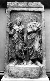 Agathemeris and her husband Sempronius