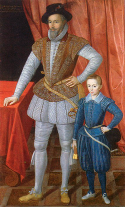 "Walter Raleigh and son ""Wat"""