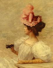Women with opera glasses by Frederick Hendrik Kaemmerer