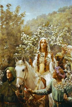 John Collier - Queen Guinevere's Maying