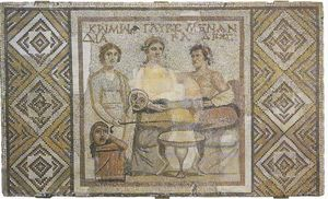 Mosaic of Menander and Glykera