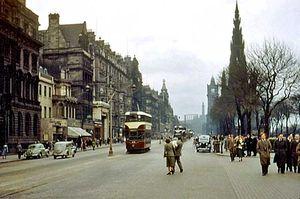 Princes Street, Edniburgh, 1950s