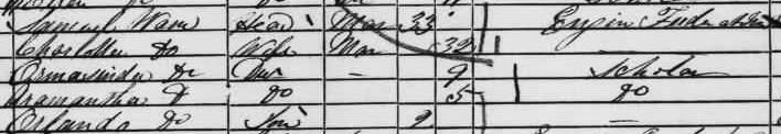 Warne Family 1861