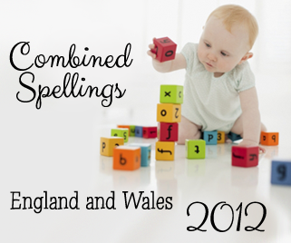 Combined Spellings 2012