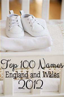 Top 100 Names England and Wales 2012