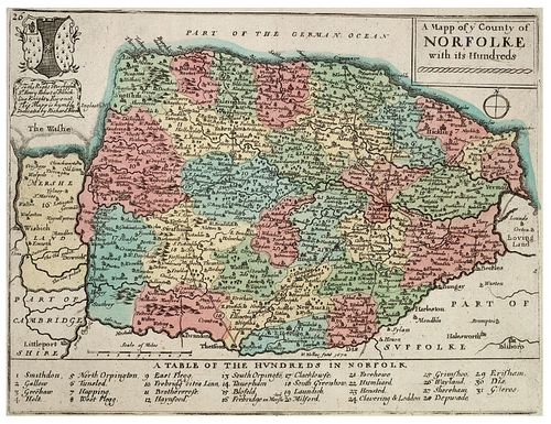 Norfolk Map - 17th century