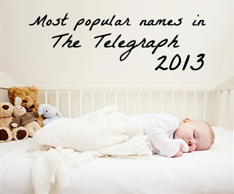 Most popular names Telegraph 2013