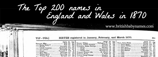 Top 200 in England and Wales 1870