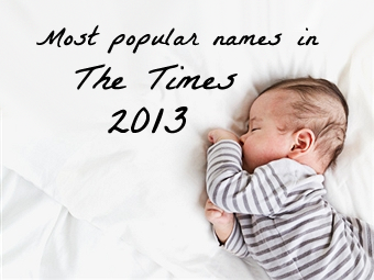 Most popular names Times 2013