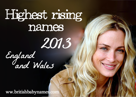 Highest Rising Names 2013