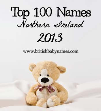 Top 100 Names Northern Ireland 2013