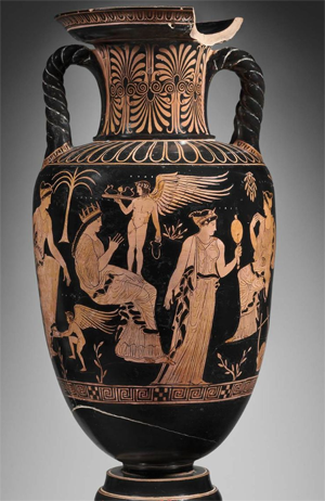 Amphora of Hippodameia preparing for her wedding