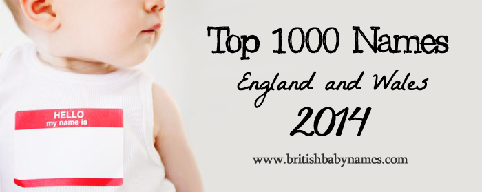 Top 1000 Names England and Wales 2014