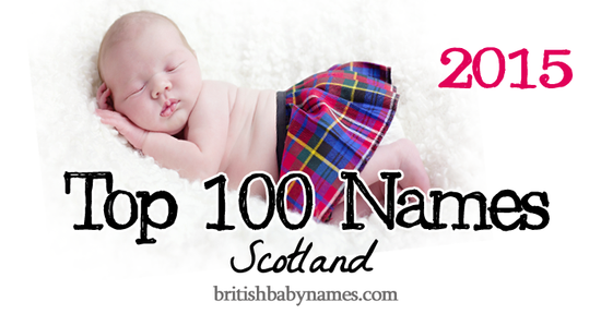 Top 100 Names Scotland 2015