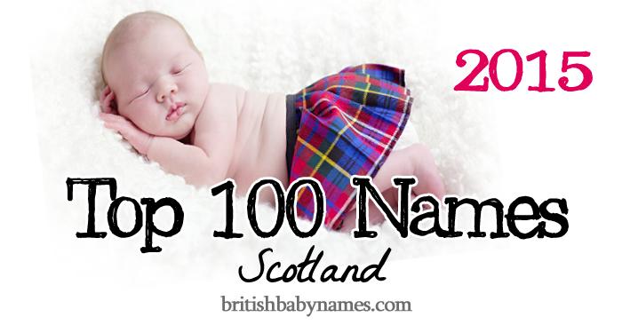 Top 100 Names Scotland 2015
