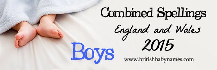 Combined Spellings 2015 Boys