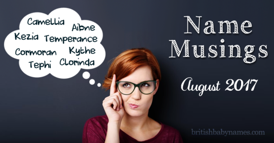 Name Musings August 2017