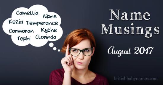 Name Musings August 2017