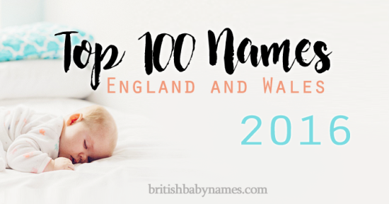 Top 100 Names England and Wales 2016