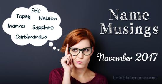 Name Musings November 2017