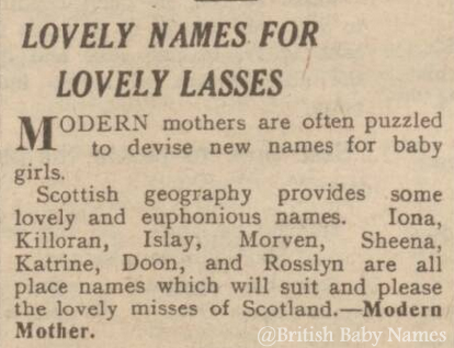 Off-the-Grid Scottish Place Names - British Baby Names