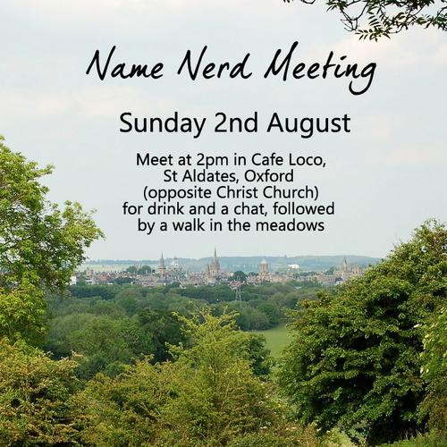 Name Nerd Meeting
