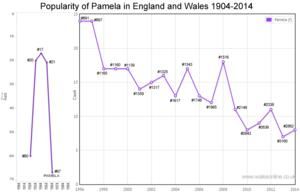 Births for Pamela