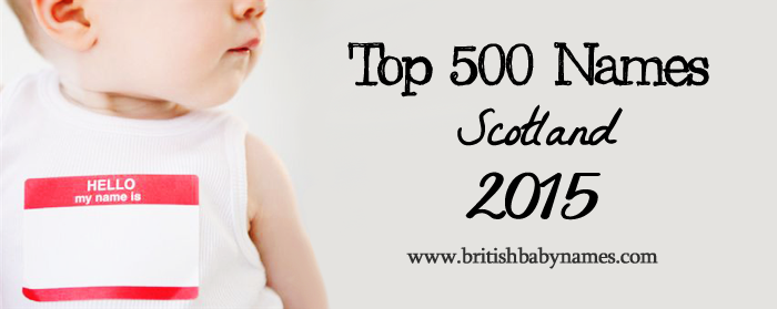 Top 500 Names Scotland 2015