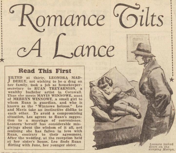 Romance Tilts a Lance Sunday 15 December 1940