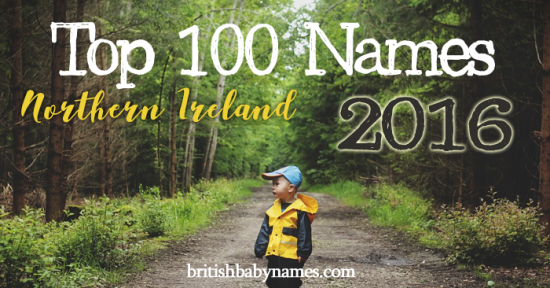 Top 100 Names Northern Ireland 2016