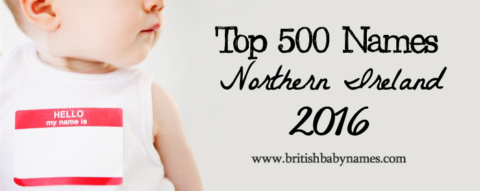 Top 500 Names Northern Ireland 2016