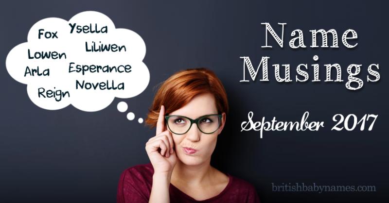 Name Musings September 2017