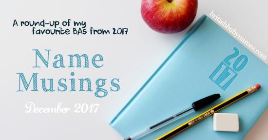 Name Musings End Year Roud Up 2017