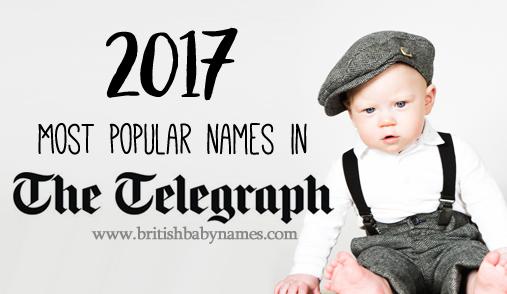 Most popular Telegraph names 2017