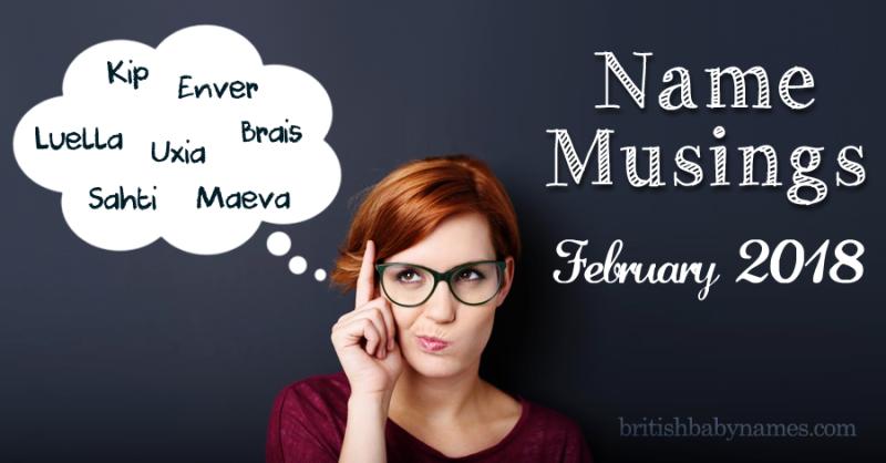 Name Musings February 2018