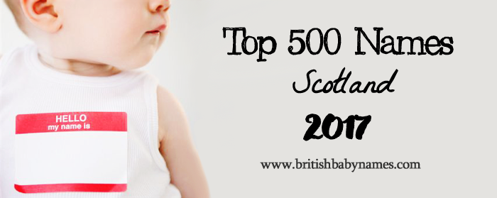 Top 500 Names Scotland 2017