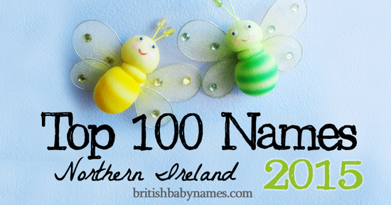 Top 100 Names Northern Ireland 2015