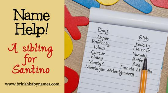Name Help - Sibling for Santino