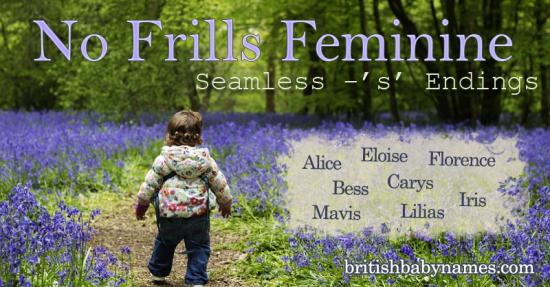 No Frills Feminine - S Endings