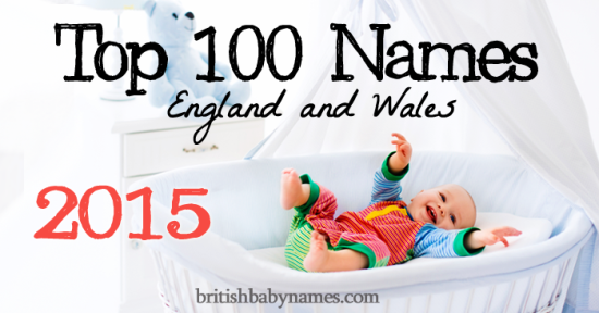 Top 100 Names England and Wales 2015