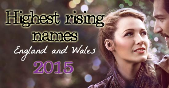 Highest Rising Names 2015