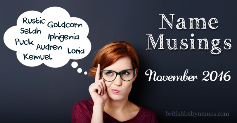 Name Musings November