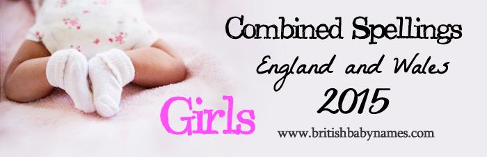 Combined Spellings 2015 Girls