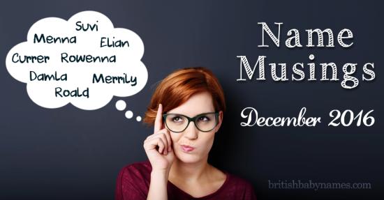 Name Musings December 16