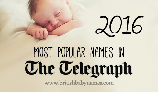 Most popular Telegraph names 2016