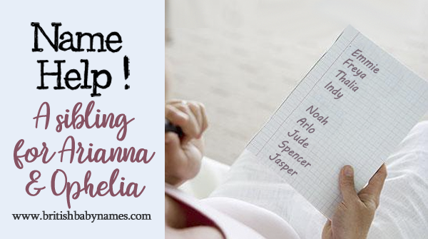 Name Help - Sibling for Arianna and Ophelia