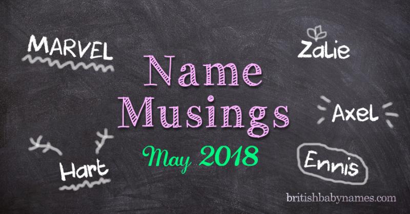 Name Musings May 2018