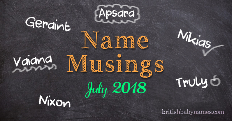 Name Musings July 2018