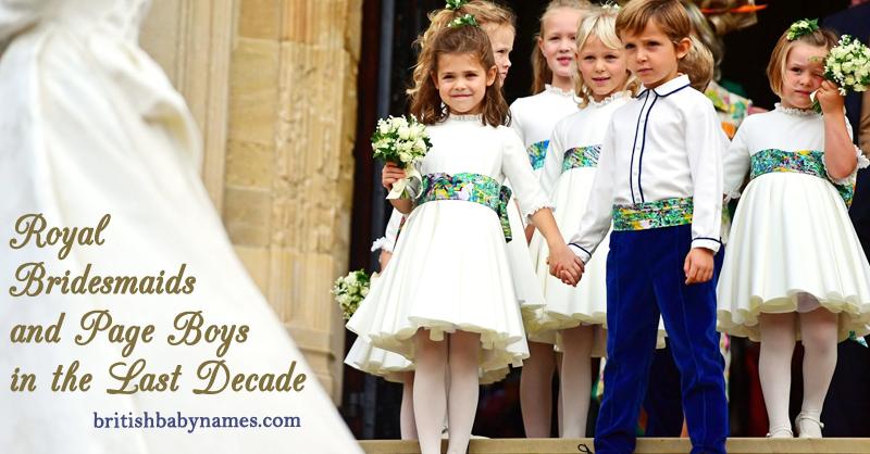 Royal Bridesmaids and Page boys