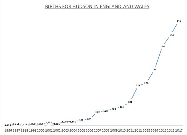 Births for Hudson